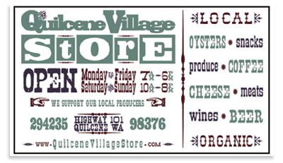 Quilcene Village Store - Gas, Locally Produced Goods, Organics, Snacks and more.